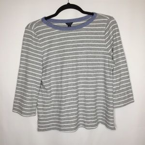 Nautica xxl stripe 3/4 sleeves shirt